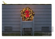 Christmas Wreath On Lawn Chairs Carry-all Pouch