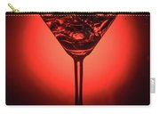 Cocktail Glass With Splashes On Red Background Carry-all Pouch