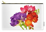 Colorful Freesias Carry-all Pouch