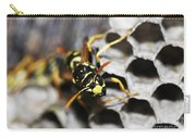 Common Wasp Vespula Vulgaris Carry-all Pouch
