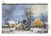 Currier & Ives Winter Scene Carry-all Pouch