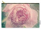 Digitally Manipulated Pink English Rose  Carry-all Pouch