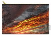 Dramatic Skies Great Smoky Mountains Nc At Sunset In Winter Carry-all Pouch