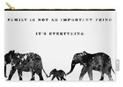 Elephant Family-black Carry-all Pouch