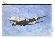 Emirates A380 Airbus Watercolour Carry-all Pouch