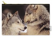 Gray Wolves Carry-all Pouch