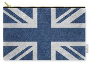 Great Britain Denim Flag Carry-all Pouch