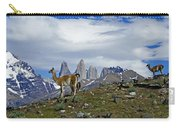 Guanacos In Torres Del Paine Carry-all Pouch