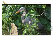 Hiding Heron Carry-all Pouch