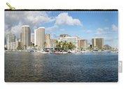 Honolulu Skyline Panorama Carry-all Pouch