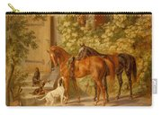 Horses At The Porch Carry-all Pouch