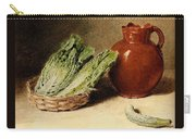 Hunt William Henry Still Life With A Jug A Cabbage In A Basket And A Gherkin William Henry Hunt Carry-all Pouch