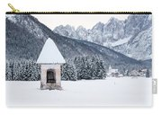 Idyllic Landscapes Immersed In The Snow. The Dream Of The Julian Alps And Valbruna Carry-all Pouch