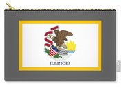 Illinois Flag Carry-all Pouch