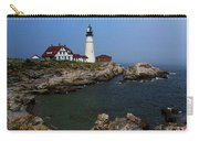 Lighthouse - Portland Head Maine Carry-all Pouch by Frank Romeo