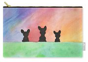 3 Little Bostons Carry-all Pouch