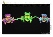 3 Little Frogs Carry-all Pouch