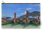 Long-tail Boats, The Andaman Sea And Hills In Ko Phi Phi Don, Th Carry-all Pouch