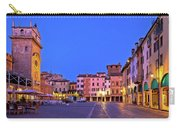 Mantova City Piazza Delle Erbe Evening View Panorama Carry-all Pouch