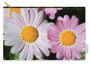 Marguerite Daisy Named Petite Pink Carry-all Pouch