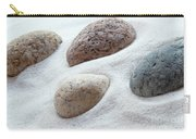 Meditation Stones On White Sand Carry-all Pouch
