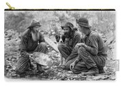 3 Men And A Dog Panning For Gold C. 1889 Carry-all Pouch
