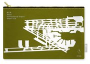 Mia Miami International Airport In Miami Florida Usa Runway Silh Carry-all Pouch