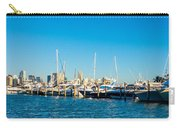 Miami Florida City Skyline Morning With Blue Sky Carry-all Pouch
