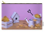 Miniature Gardening Kit With Pink Background Carry-all Pouch