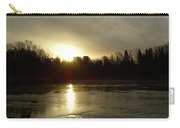 Mississippi River Sunrise Reflection Carry-all Pouch