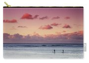 Paddlers At Sunset Carry-all Pouch