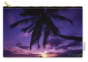Palm Over The Beach Carry-all Pouch