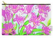 Pink Daily Lilies Carry-all Pouch
