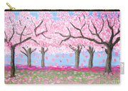 Pink Garden, Oil Painting Carry-all Pouch