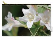Pink Splash Variegated Weigela Carry-all Pouch