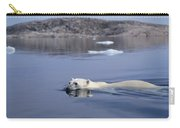 Polar Bear Swimming Wager Bay Canada Carry-all Pouch