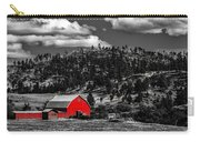 Red Barn In Wyoming Carry-all Pouch