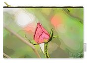 Red Garden Rose Bud Carry-all Pouch