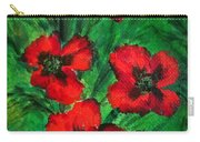 3 Red Poppies Carry-all Pouch