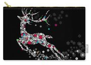 Reindeer Design By Snowflakes Carry-all Pouch by Setsiri Silapasuwanchai