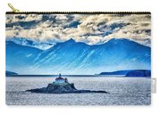 Remote Lighthouse Island Standing In The Middle Of Mud Bay Alask Carry-all Pouch
