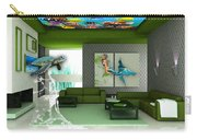 Rooftop Saltwater Fish Tank Art Carry-all Pouch