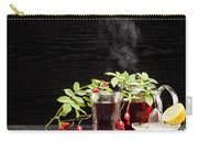 Rosehip Tea With Lemon In Glass Carry-all Pouch