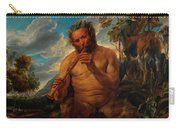 Satyr Playing The Pipe Carry-all Pouch