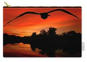 Seagull Flying In Action Carry-all Pouch by Fernando Cruz