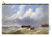 Ships On A Stormy Sea Carry-all Pouch