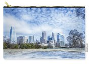 Snow And Ice Covered City And Streets Of Charlotte Nc Usa Carry-all Pouch
