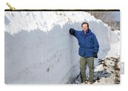 Snow By The Roadside Carry-all Pouch