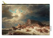 Stormy Sea With Ship Wreck Carry-all Pouch