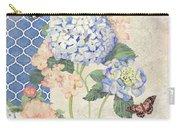 Summer Memories - Blue Hydrangea N Butterflies Carry-all Pouch